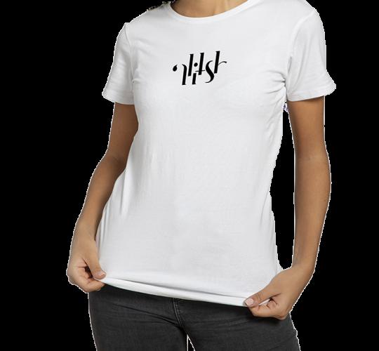 T-shirt Alitsh blanc logo noir femme