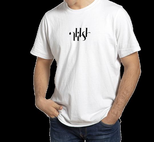 T-shirt Alitsh blanc logo noir